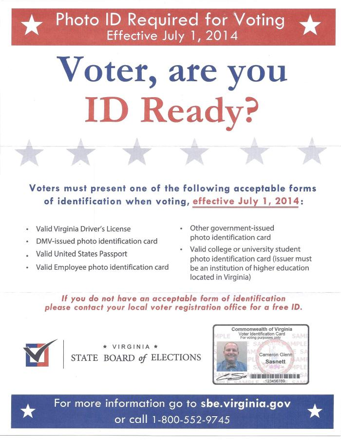 Voter, are you ID ready?