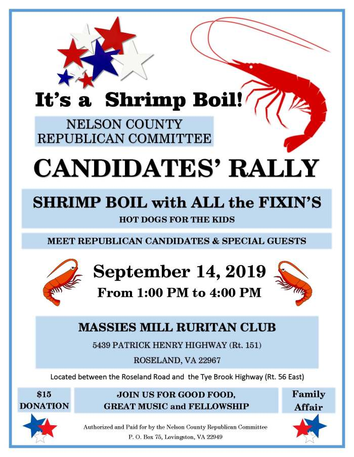 NCRC Candidate Rally Flyer (2019)